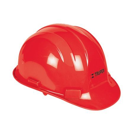 Truper Full-Brim Safety Helmet Red