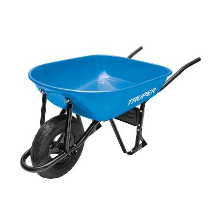 Truper Wheelbarrow with Knobby Tire 5.5 ft3 80 L Blue