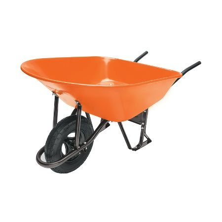 Truper Wheelbarrow with Knobby Tire 10 ft3 130 L Orange