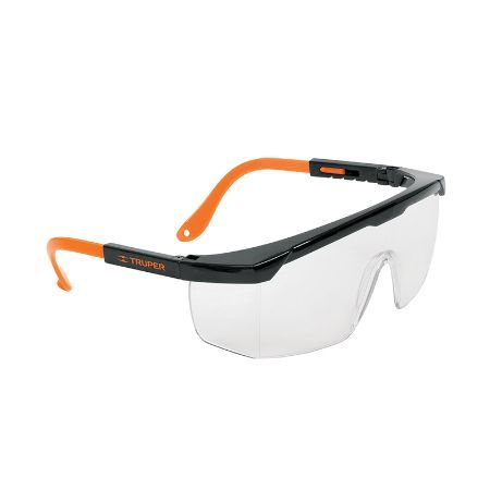 Truper Adjustable Temples Safety Glasses Gray