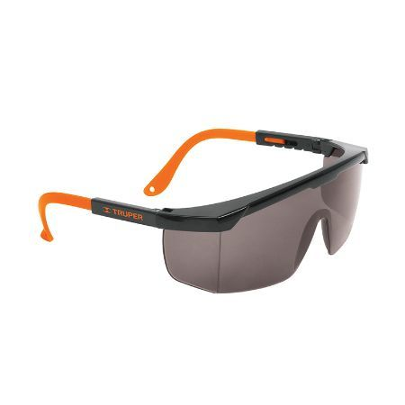 Truper Adjustable Temples Safety Glasses Smoke