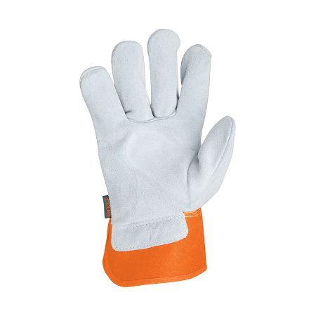 Truper Canvas & Leather Gloves Large