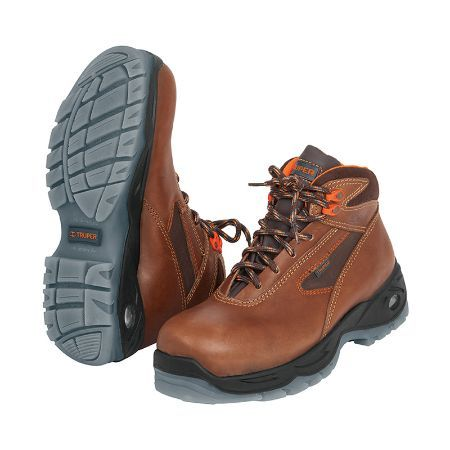 Truper Heavy-Duty Dielectric Brown Work Boots Size 9