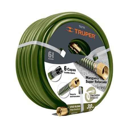 Truper 6-Ply Continuous Flow Hose 98 ft x 5/8