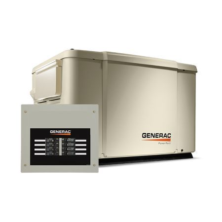 Generac Home Backup Generator PowerPact 7.5kW w/ Transfer Switch