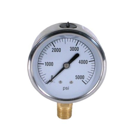 BE 85.300.100 Pressure Gauge Glycerin, Stainless Steel