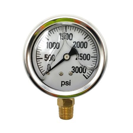 BE 85.303.000 Pressure Gauge Glycerin, Stainless Steel