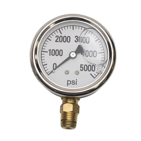 BE 85.305.000 Pressure Gauge Glycerin, Stainless Steel