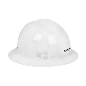 Truper Full-Brim Safety Helmet White