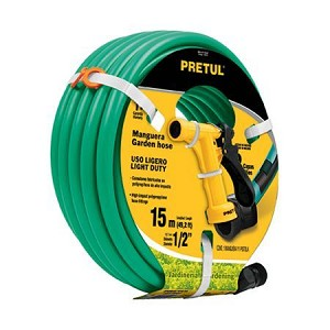 Pretul 49.2 ft Water Hose With Plastic Pistol Nozzle MAN15P-PIM4P