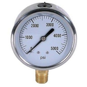 BE 85.301.000 Pressure Gauge Glycerin, Stainless Steel